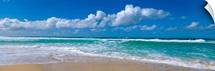 Waves crashing on the beach, Sunset Beach, Oahu, Hawaii