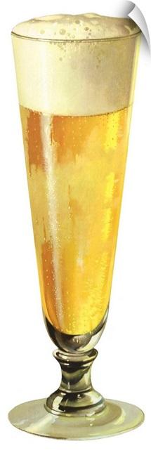 Beer in Pilsner Glass