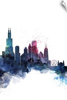 Chicago Watercolor Cityscape