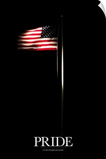 Motivational Poster: American flag