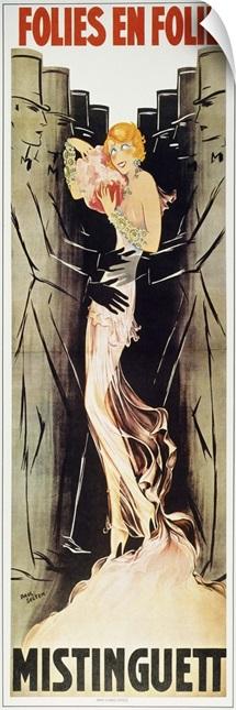 Mistinguett On Poster, 1933
