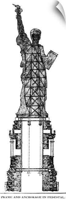 Statue Of Liberty, 1886, cross section