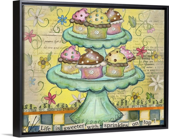Cupcake Wall Art, Canvas Prints, Framed Prints, Wall Peels | Great ...