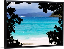 Panoramic view of a beach, Cinnamon Bay, St. John, US Virgin Islands