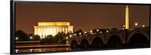 Lincoln Memorial and Washington Monument at Night, Washington, DC