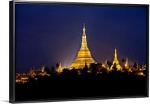 Shwedagon Pagoda at night, Yangon, Burma