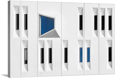 Composition In White, Black And Blue