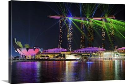 Marina Bay Sands Laser-show