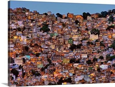 Nightfall In The Favela Da Rocinha
