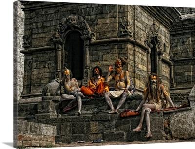 Sadhus Enjoying The Maha Shivatri Festival