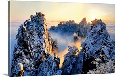 Sunrise At Mt. Huang Shan