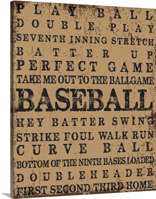 Baseball Typography