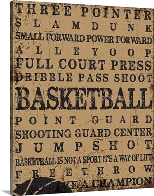 Basketball Typography