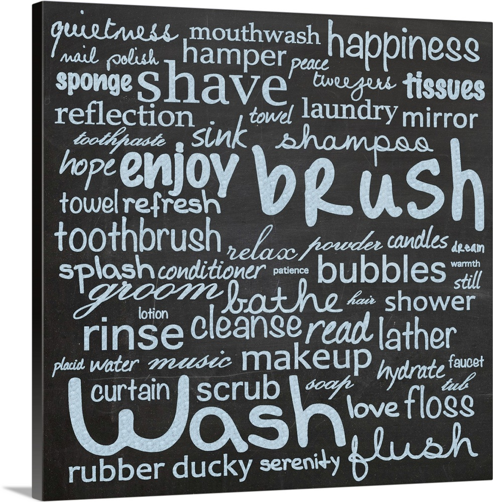 Bathroom Rules Wall Art | Bathroom Rules