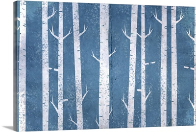 Blue In the Birches