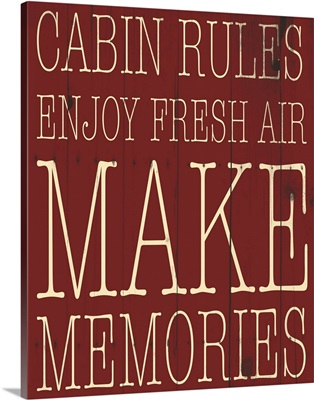 Cabin Rules Red