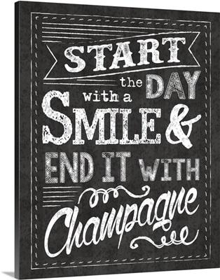 Champagne Chalkboard