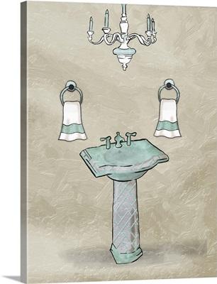 Chip Teal Sink