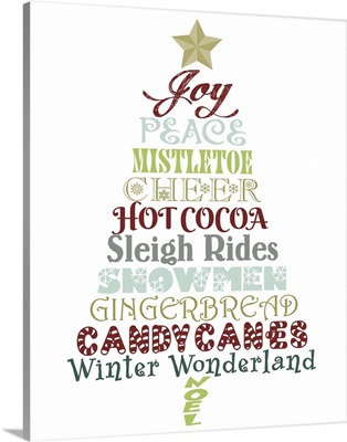 Christmas Typography Tree II