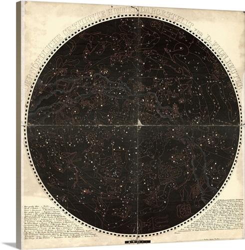 Circular Celestial Wall Art, Canvas Prints, Framed Prints, Wall ...