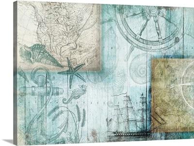 Coastal Collage I - Blue
