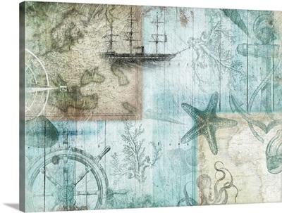 Coastal Collage II - Blue