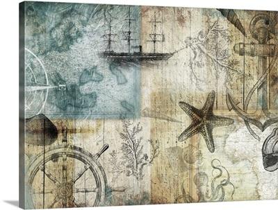 Coastal Collage II - Wood