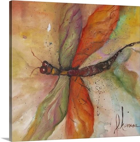 Dragonfly Tango Wall Art Canvas Prints Framed Peels