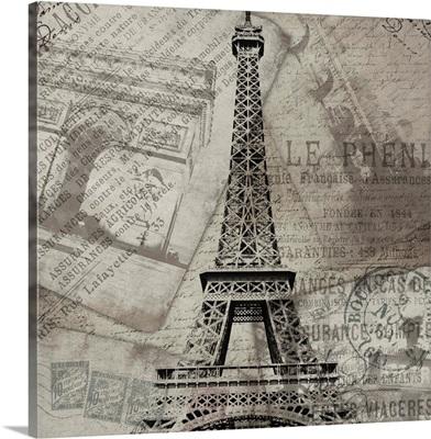 Eiffel Tower Grey