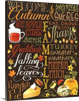 Fall Typography I - Brown