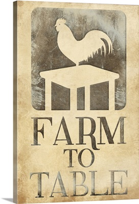 Farm to Table Rooster - Rust