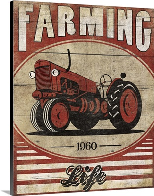 Farming Life Tractor Red