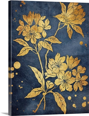 Floral Golden Blues I