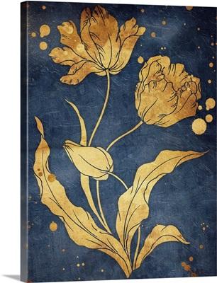 Floral Golden Blues II
