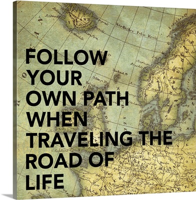 Follow Your Own Path Map