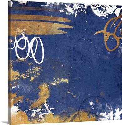 Golden Blue Square I