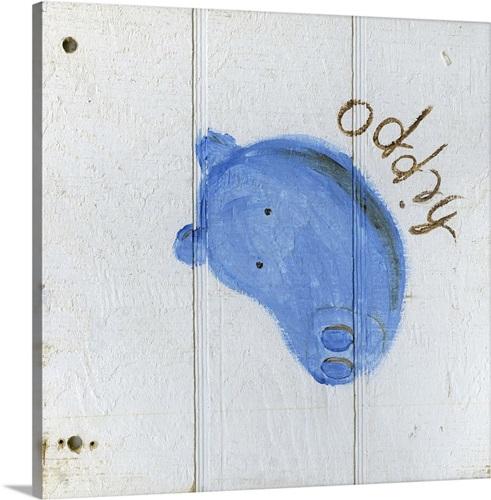 Happy Hippo Wall Art, Canvas Prints, Framed Prints, Wall Peels ...