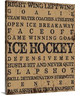 Ice Hockey Typography