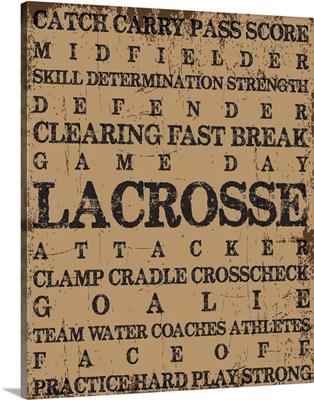 Lacrosse Typography