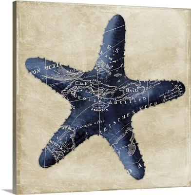 Map Starfish, Indigo