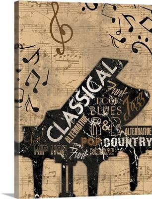 Music Notes, Piano Cream