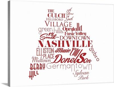 Nashville Typography map