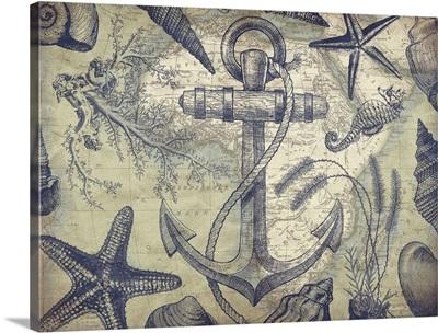 Nautical map - Anchor