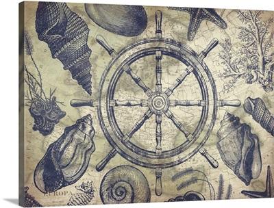 Nautical map - Steering Wheel