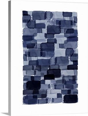 Navy Blue Watercolor Block
