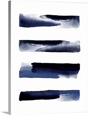 Navy Blue Watercolor Strokes
