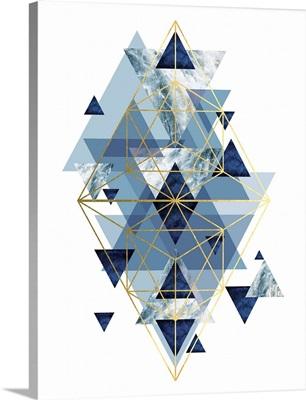 Navy Gold Geometric