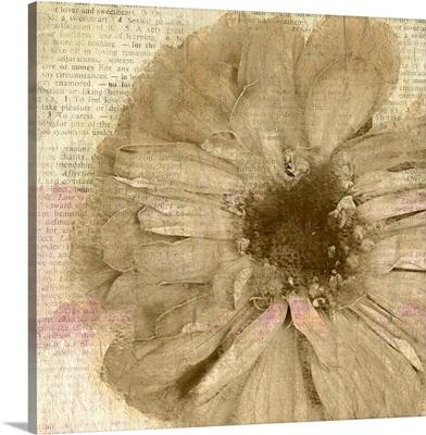 Newspaper Floral I