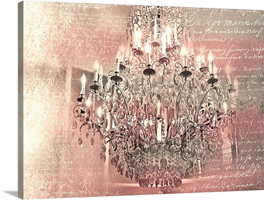 Pink chandelier wall art canvas prints framed prints wall peels pink chandelier aloadofball Gallery