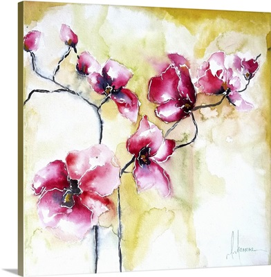 Pink Orchids I
